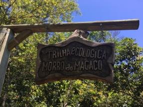 Letreiro - Trilha do Morro do Macaco